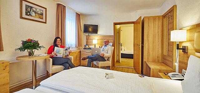 Dreibettzimmer Hotel Goldner Stern